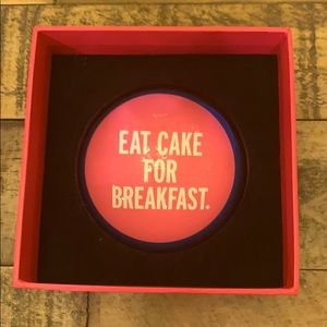 Kate Spade ♠️ Eat Cake For Breakfast Paperweight